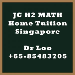 JC A-level Math Home Tuition Singapore