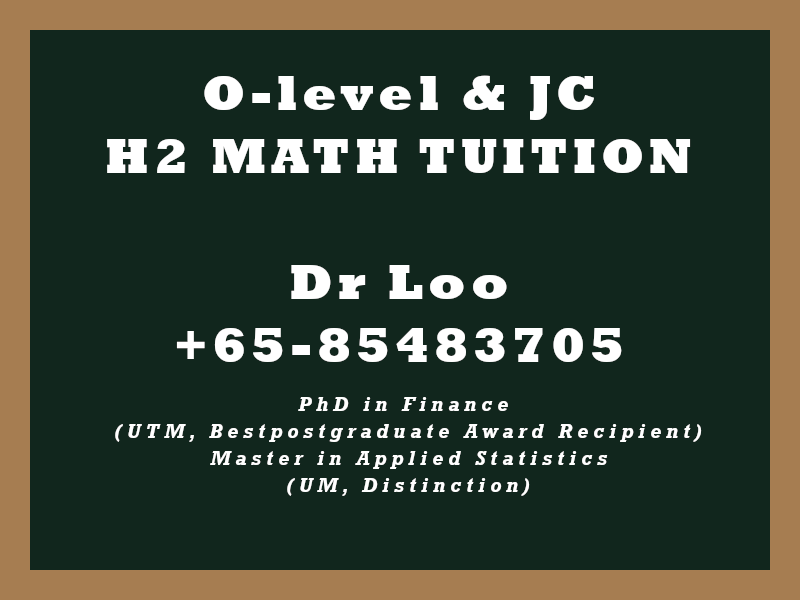 JC Math Home Tuition Singapore