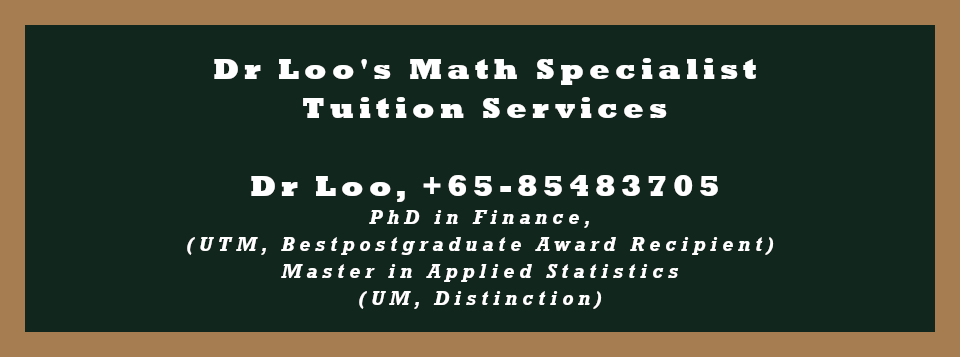 O-level A-math Private Tutoring in Singapore