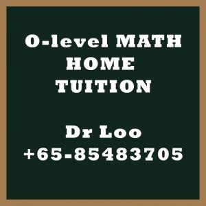 O level Math Home Tuition Singapore