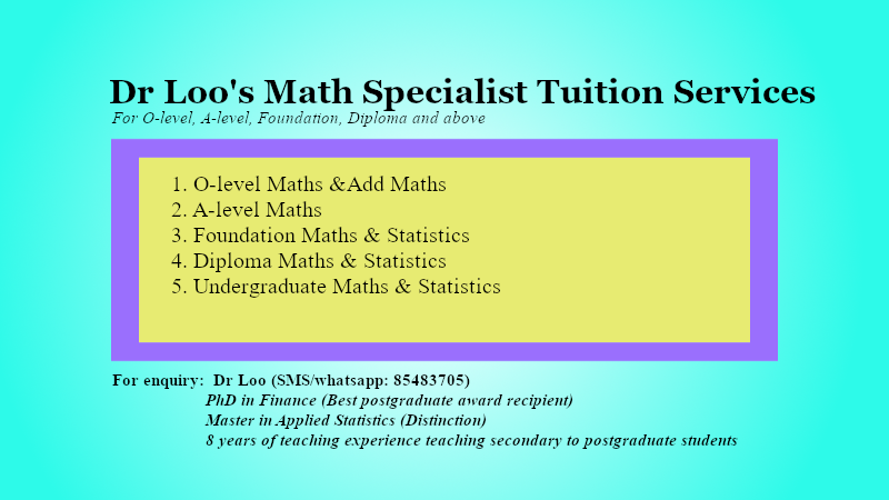 Psychology Statistics Tutor Singapore