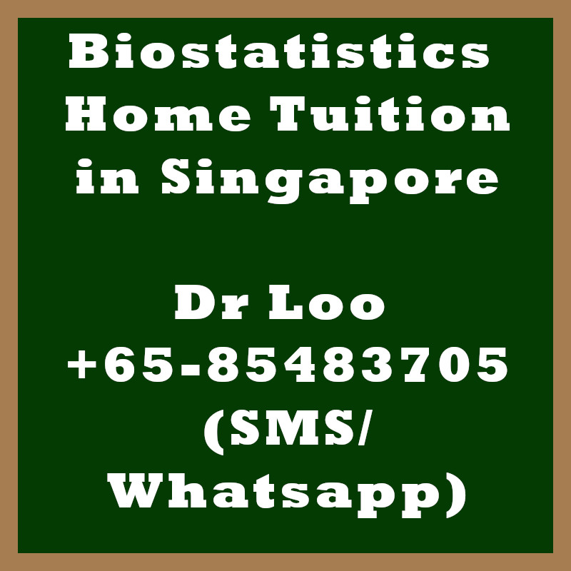 Biostatistics Home Tuition in Singapore