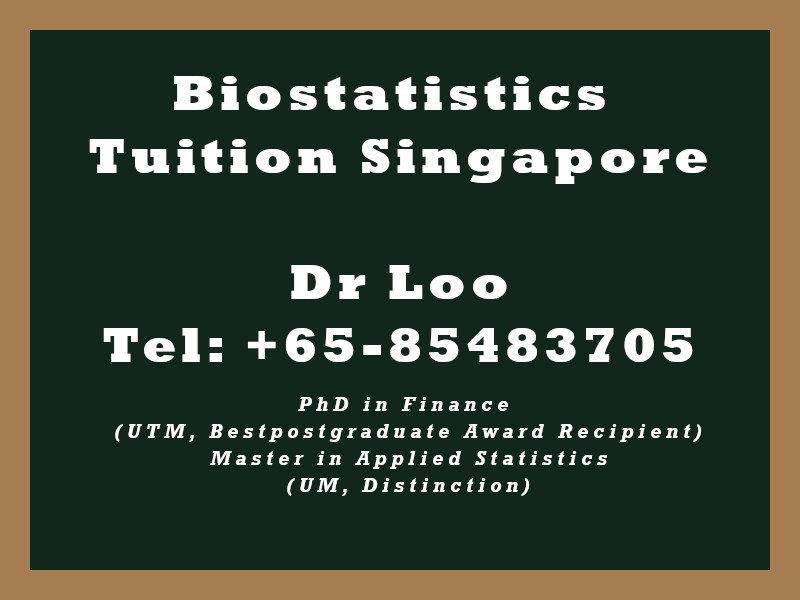 Biostatistics Private Tuition in Singapore