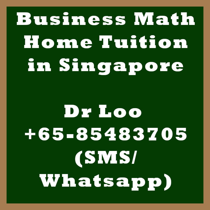 Business Mathematics Home Tuition in Singapore