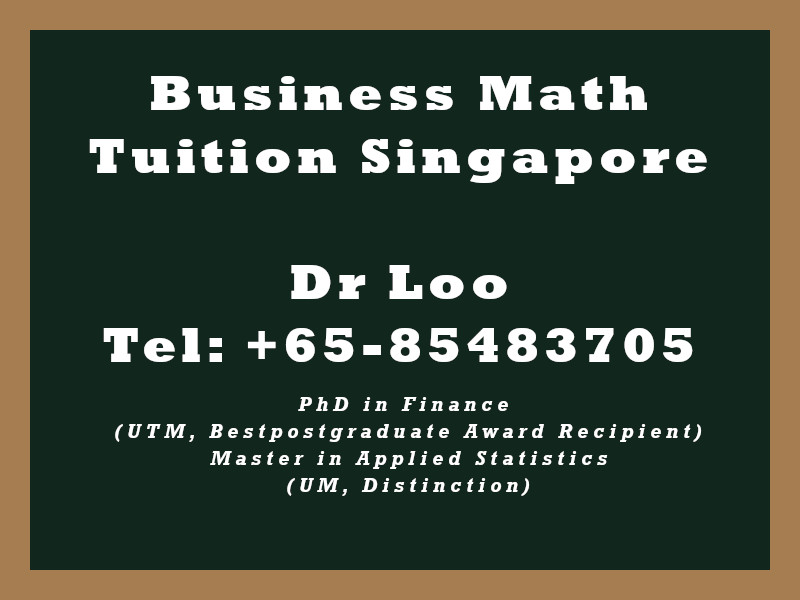 Business Mathematics Private Tuition in Singapore