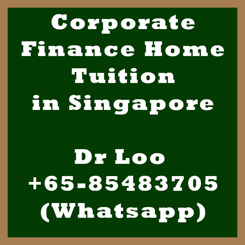 Corporate Finance Home Tuition in Singapore