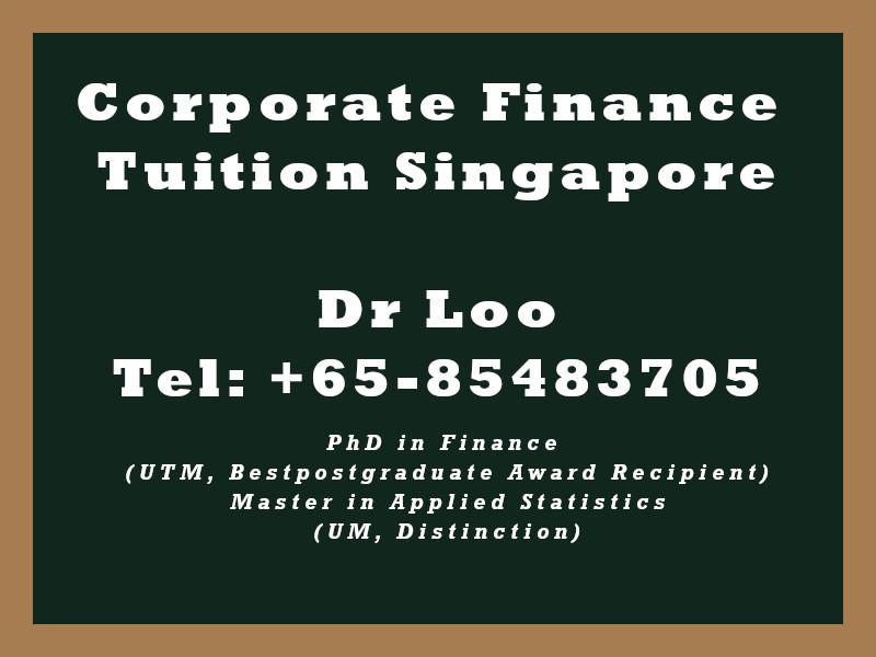 Corporate Finance Private Tuition in Singapore