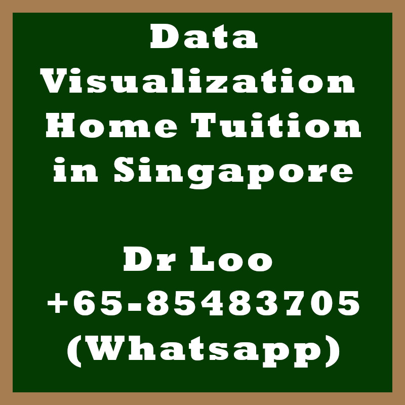 Data Visualization Home Tuition in Singapore