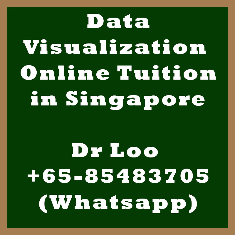 Data Visualization Online Tuition Singapore