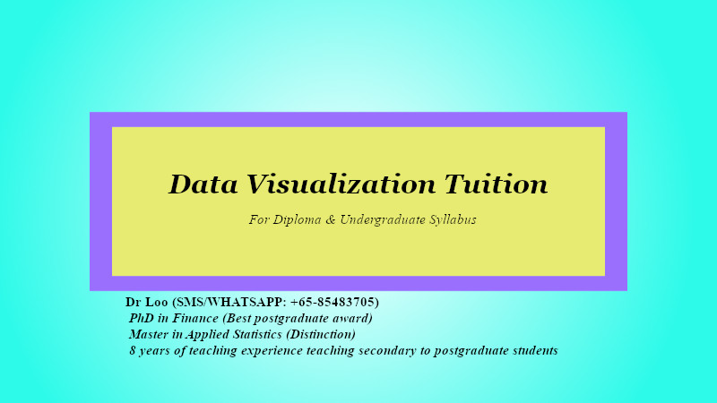 Data Visualization Tuition in Singapore