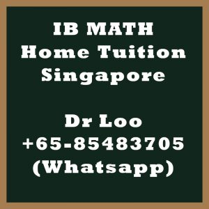 IB Math Home Tuition Singapore