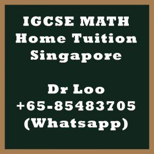 IGCSE Math Home Tuition Singapore