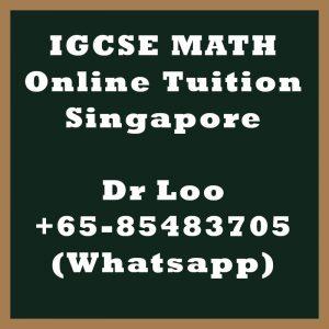 IGCSE Math Online Tuition Singapore