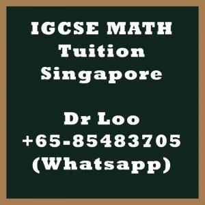 IGCSE Math Tuition Singapore