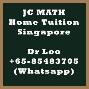 JC Math Home Tuition Singapore