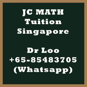 JC Math Tuition Singapore