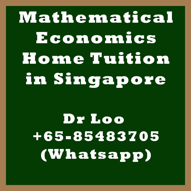 Mathematical Economics Home Tuition in Singapore