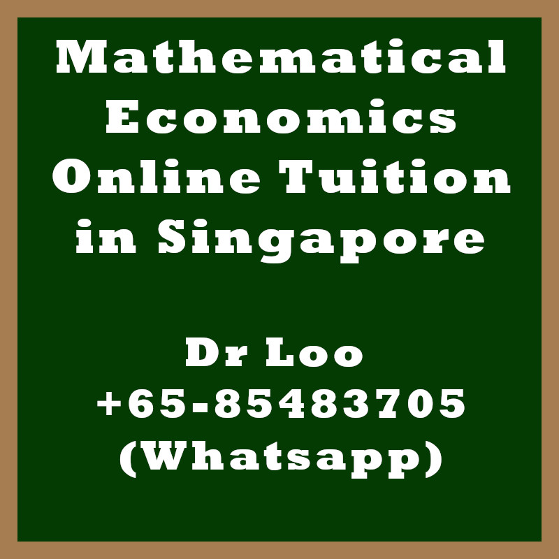 Mathematical Economics Online Tuition Singapore