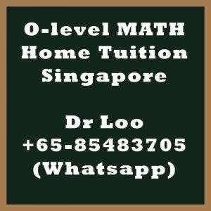 O-level Math Home Tuition Singapore