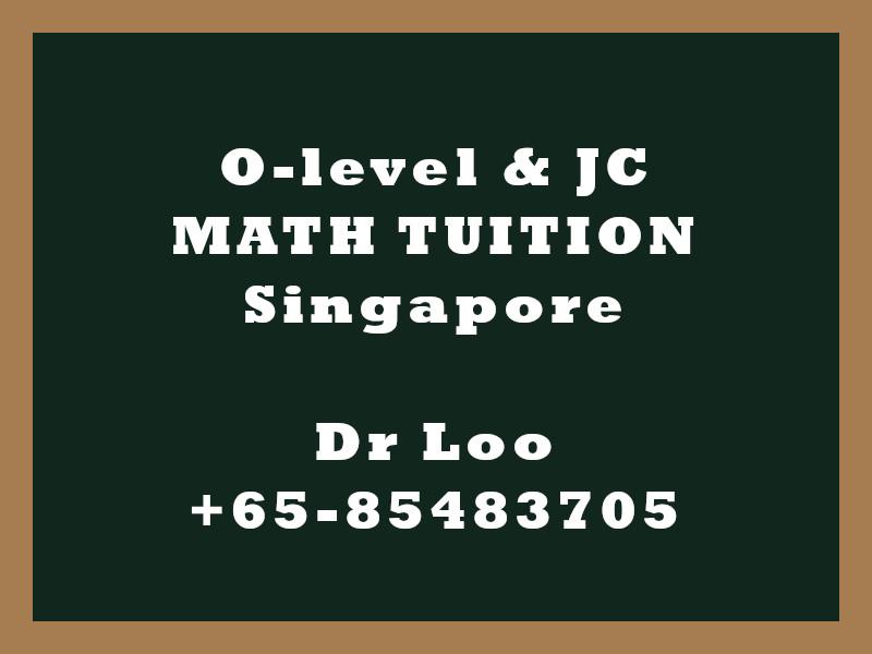 O-level Math & JC Math Tuition Singapore - Integration
