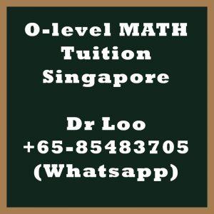 O-level Math Tuition Singapore