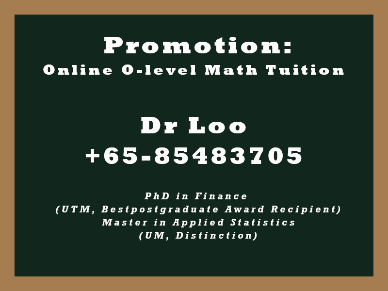 Online O-level Math Tuition Singapore Promotion
