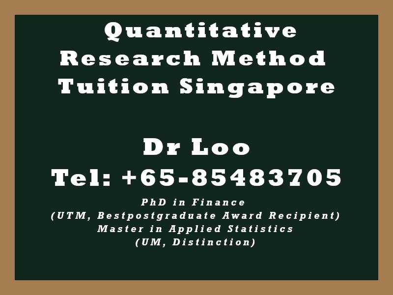 Quantitative Research Method Private Tuition in Singapore