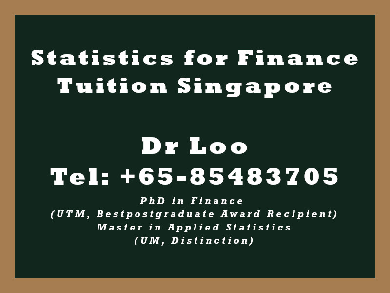 Statistics for Finance Private Tuition in Singapore
