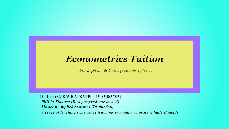 Econometrics Tuition Service in Singapore