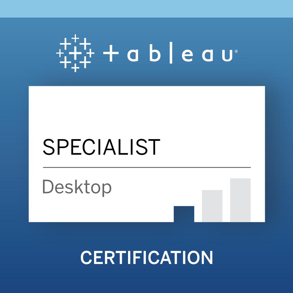 Tableau Desktop Specialist - 新加坡数学家教