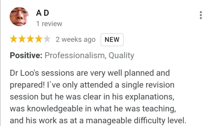 Review from student 2