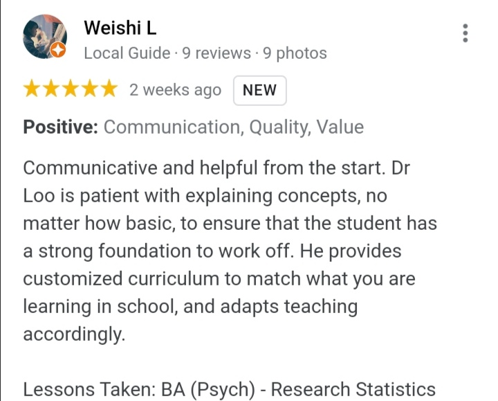 Review from student 3